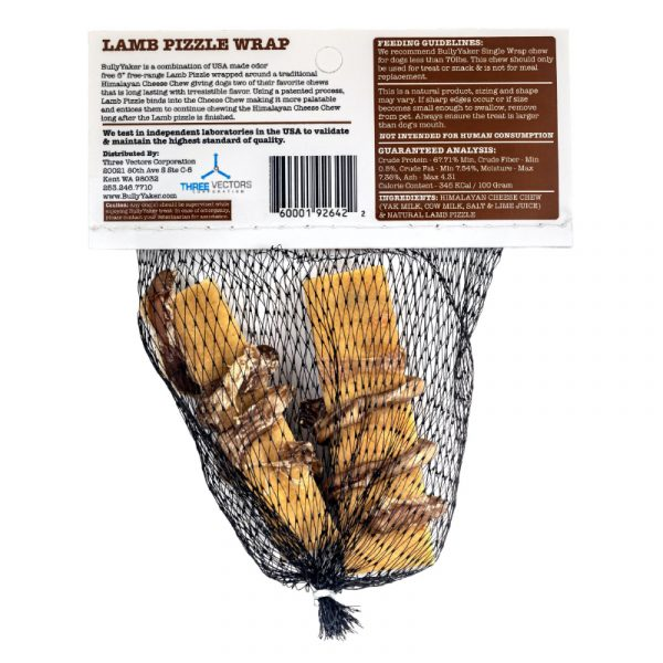 Bully Yaker Lamb Pizzle Wrap - 2 Pieces