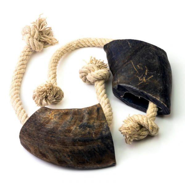 buffalo horn tug toy