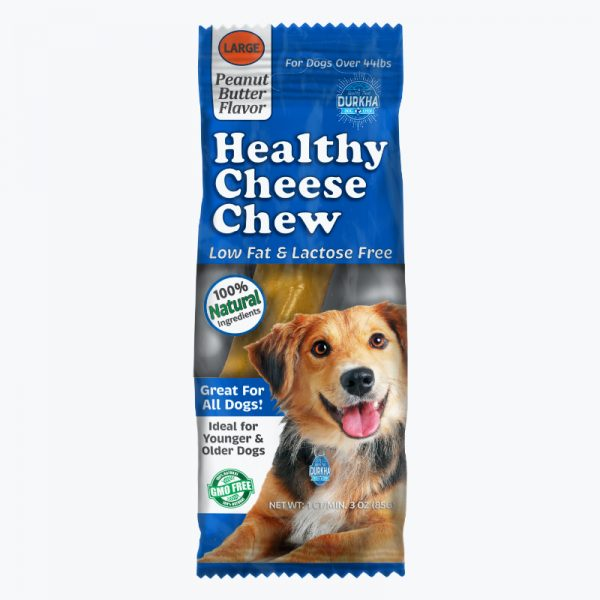 Durkha Healthy Cheese Chew - Peanut Butter - Large